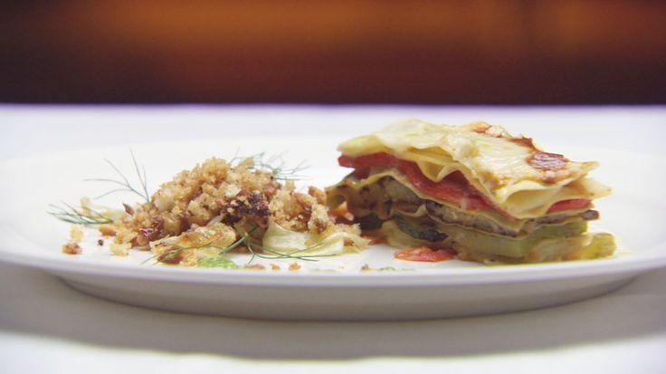 Summer Vegetable Lasagne with Pesto Sauce. Masterchef Australia