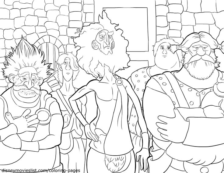 A Printable Disney Coloring Page Sheet Titled Lords MacGuffin Macintosh And Dingwall