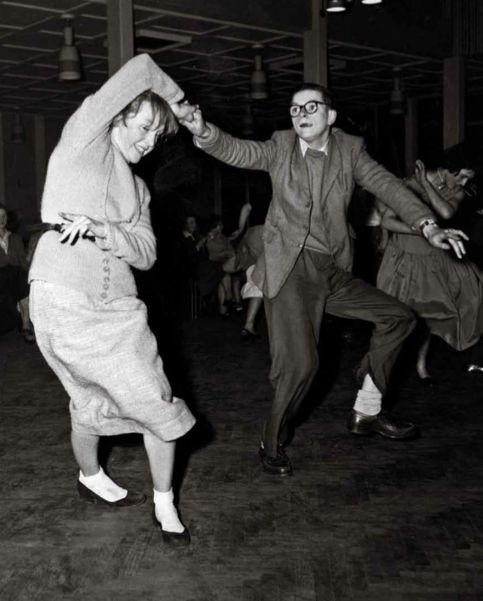 From Bert Hardy's Britain - dancers out on the town in Rochdale, 1957