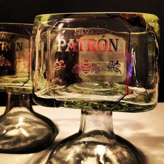 Patron Tequila Bottle Margarita Drinking Glass $29.99