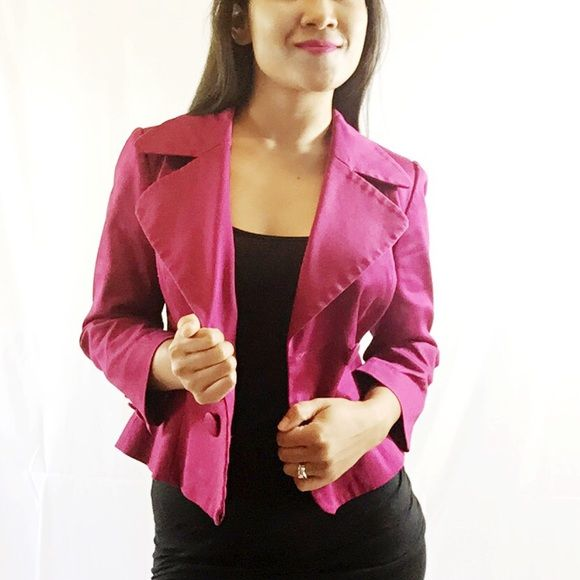H&M Purple Blazer Size: 4  Color: Purple Condition: Good and dry-cleaned H&M Jackets & Coats Blazers