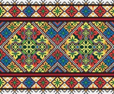 Ukrainian ethnic seamless ornament Stock Photo