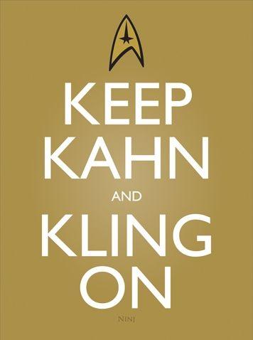 Keep Khan and Klingon... I'm laughing so hard I'm almost crying