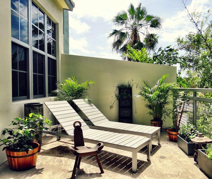 Herb garden balcony.