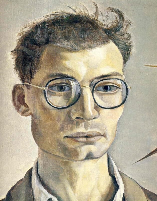 Художник - Люсьен Фрейд, картина «Мужчина в очках»