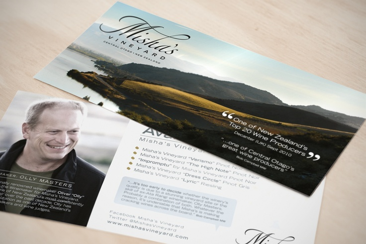 Design of trade show promotional card for Australian audience