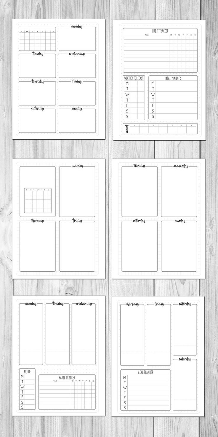 Bullet Journal Printable Planner kit (Dot & Grid) undated