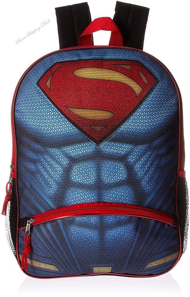 Superman Backpack with Pencil Pocket Kids School Backpacks Children Bag 16 Inch  #SupermanBackpackwithPencilPocket
