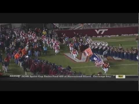 Virginia Tech Football Entrance (from VT vs UNC game on ESPN).  http://www.hokienation.us/