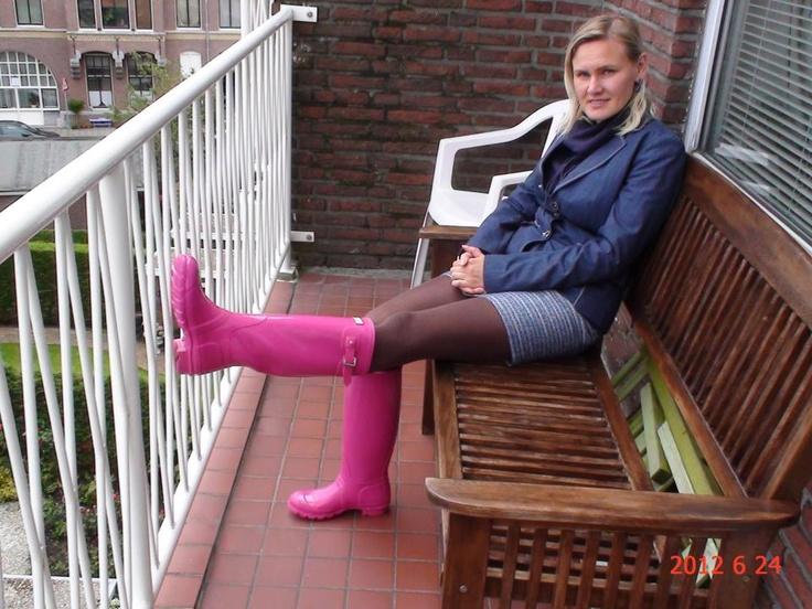 My Fuschia pink Wellingtons
