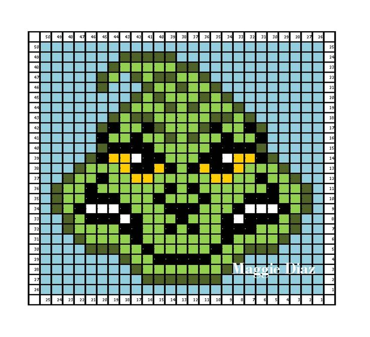 Crochet Pattern Excel : Dr Seuss Grinch graph c2c crochet pattern Excel Graphs ...