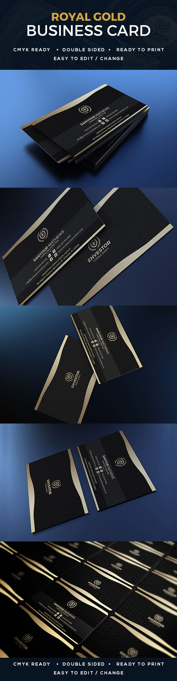 78 best creative business cards images on pinterest corporate gold business card magicingreecefo Gallery