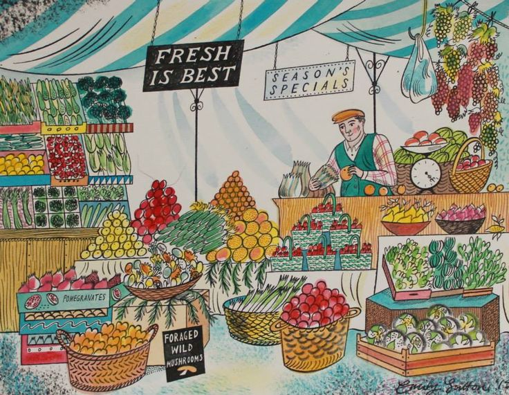 """Fresh is Best"" by Emily Sutton (watercolour)"