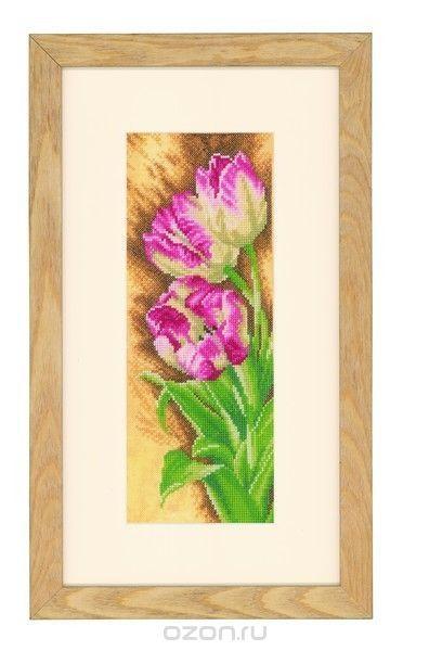 Набор для вышивания крестом Lanarte Тюльпаны, 12 х 30 см