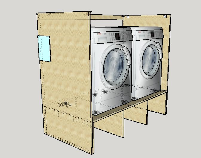 how to make a pedestal for washer and dryer