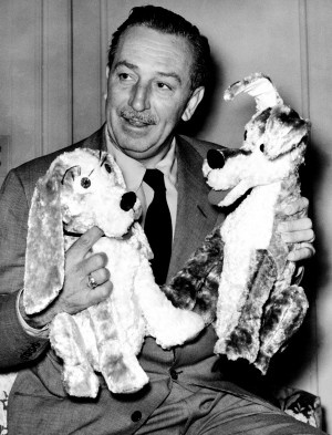walt with lady and the tramp