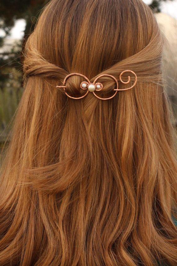 copper wire hair barrette