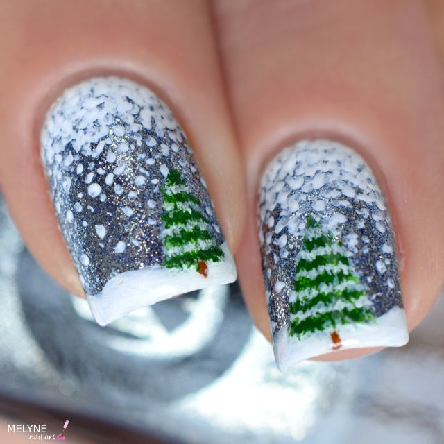nail-art-hiver-neige-et-sapin-winter-nails-3