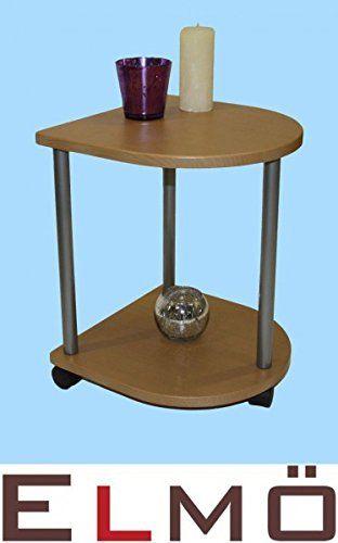 Beistellwagen Beistelltisch Tisch buche halbrund 12012