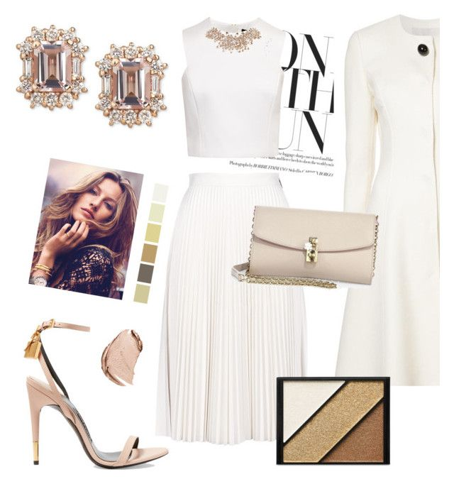 """beige&white"" by heloisacintrao ❤ liked on Polyvore featuring Carolina Herrera, MSGM, Ted Baker, Tom Ford, Dolce&Gabbana, Elizabeth Arden and Christian Dior"