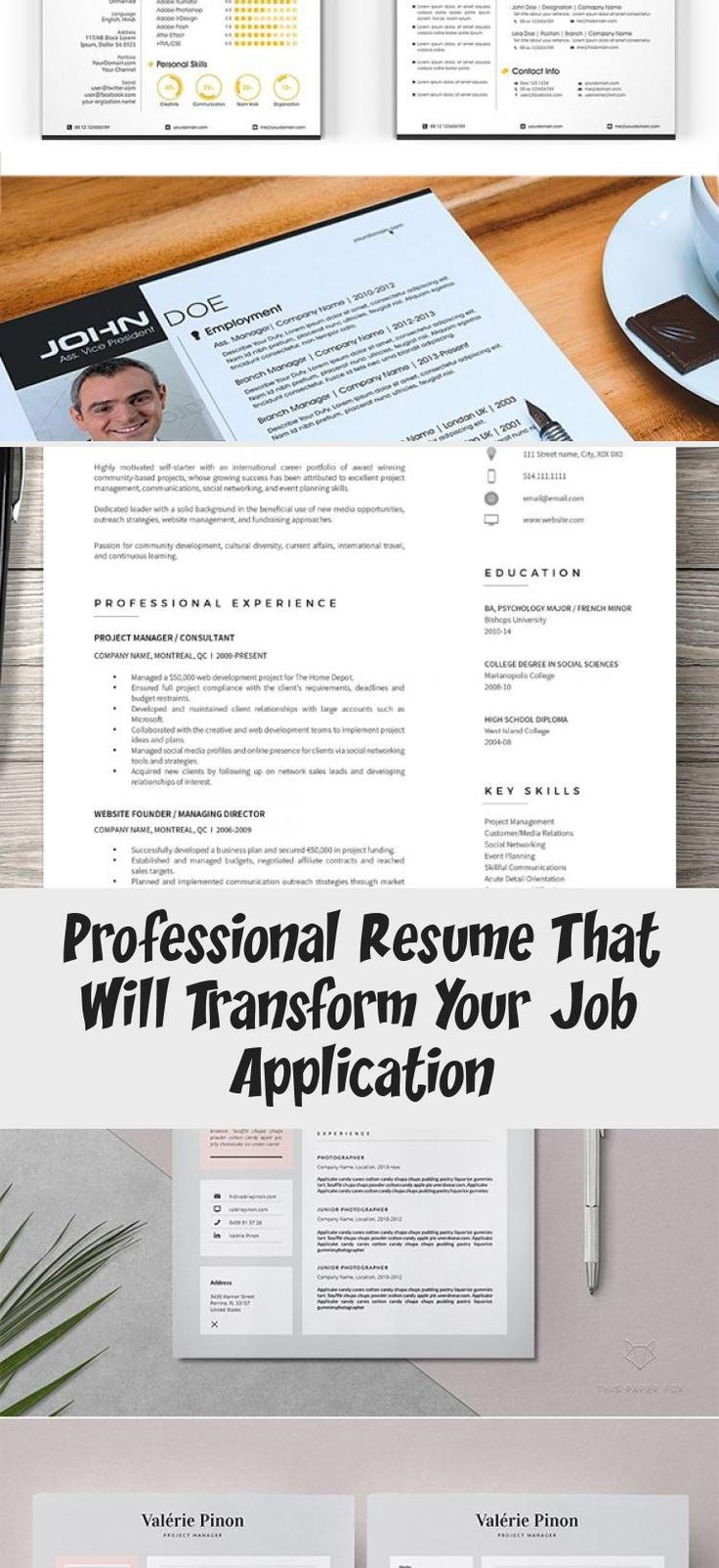 Big Set of Professional Resumes portfoliodesignGreen
