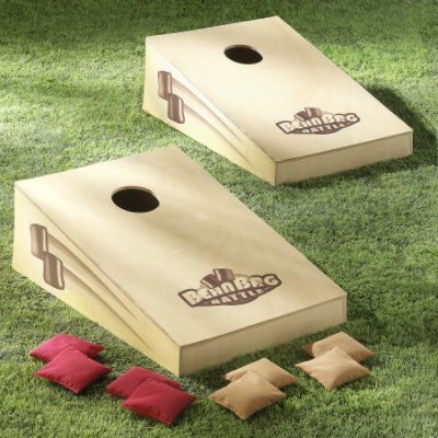 Outside, guests will enjoy games of bean bag toss