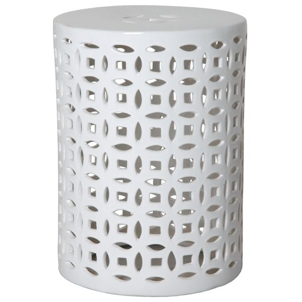 Linked Fortune Garden Stool Table White The Southern Home Featuring French Country Shabby Chic Decor