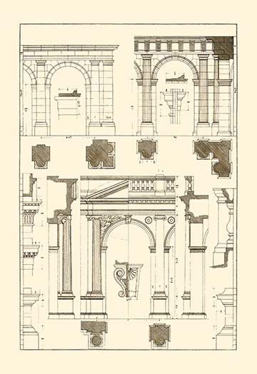 Architectural Drawings of Renaissance Architecture