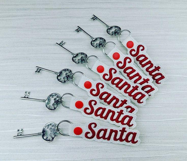 Magic Santa Key Santa's Key Magic Key No Chimney Kids Gift RED writing by AHeartlyCraft on Etsy