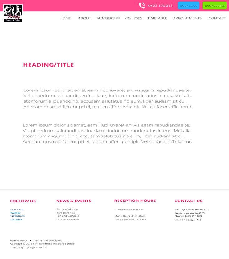 Ordinary page  Desktop Layout