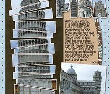 Pisa, Italy - Scrapbook page  - love how the photo is cut into sections