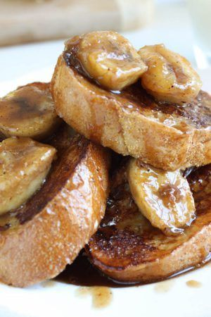 Bananas foster was meant to be served over french toast and french toast was meant to be topped by bananas foster. They should never end up on your plate without each other again! I like to consider myself a french toast connoisseur, and this bananas foster french toast recipe is the best of!