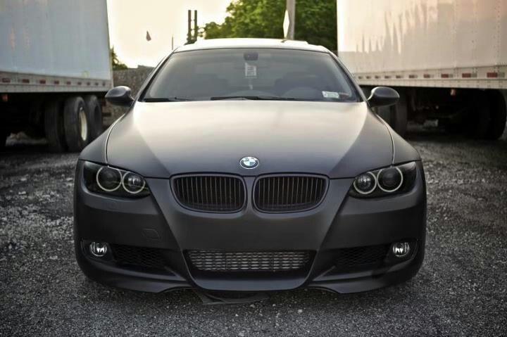 BMW 335i Matte Black....inspiration for mine:)