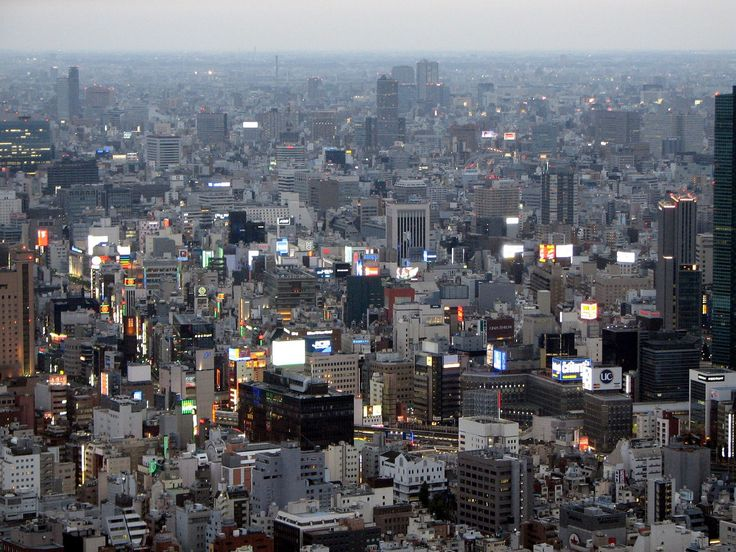Ginza area at dusk from Tokyo Tower - Urban area - Wikipedia, the free encyclopedia