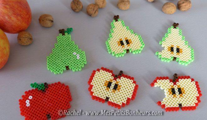 bricolage fruits d'automne en perles hama