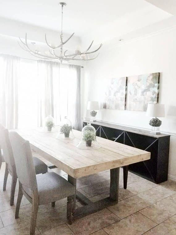 Made To Order Modern Rustic Farmhouse Dining Table In Natural Homedecormodern Rustic Farmhouse Dining Table Rustic Dining Room Modern Dining Table