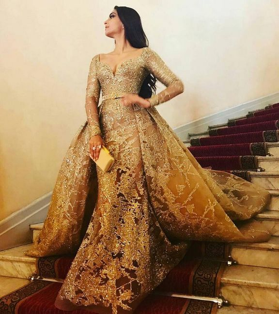 Sonam Kapoor In A Beautiful Dress In Cannes 2107