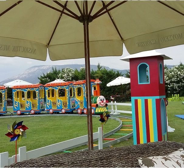 Circus train with ticket booth from DELFINAKIA