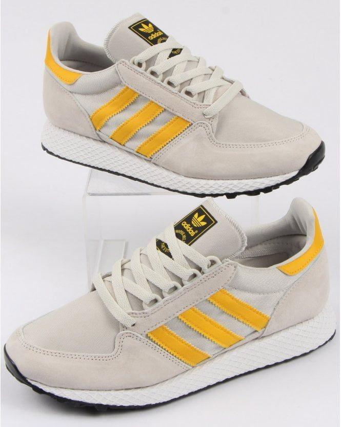 190ab441d8f47 Adidas Forest Grove Trainers Raw White/Yellow | Shoes in 2019 ...