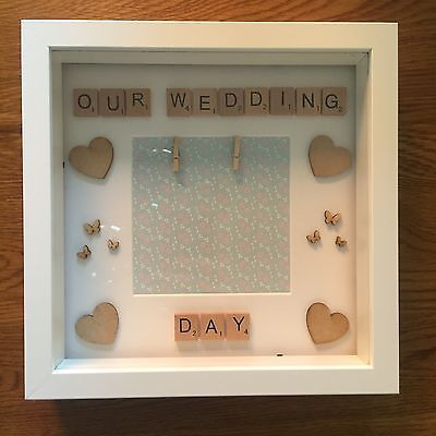 Handmade Scrabble Frames Gifts Wedding Anniversary Birthday Celebration