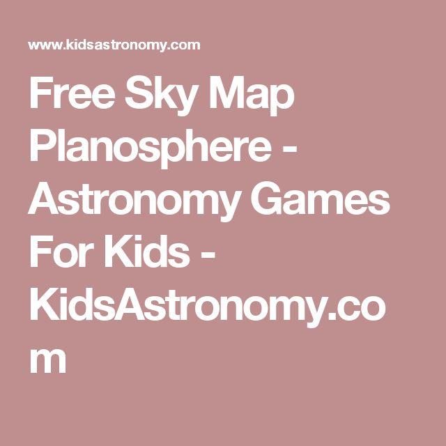 Free Sky Map Planosphere - Astronomy Games For Kids - KidsAstronomy.com