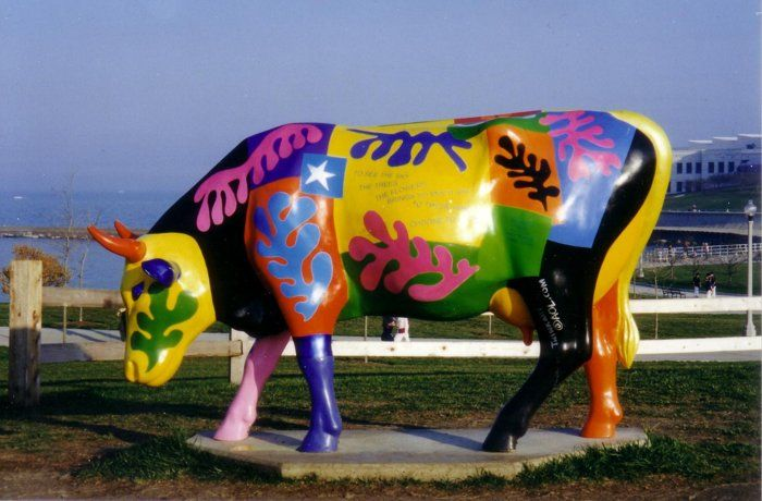 Chicago's Cows on Parade Art EXhibit (1999)....a most popular public art