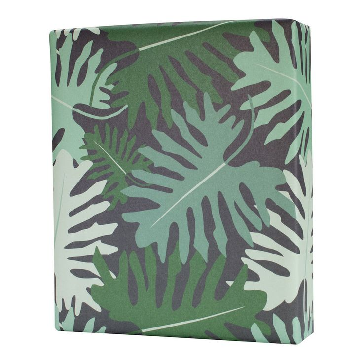 Big Tropical Leaves Gift Wrap (3 flat sheets) #RevelCo