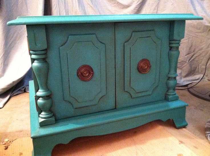 Sold florence color end table annie sloan chalk paint for How to make teal paint