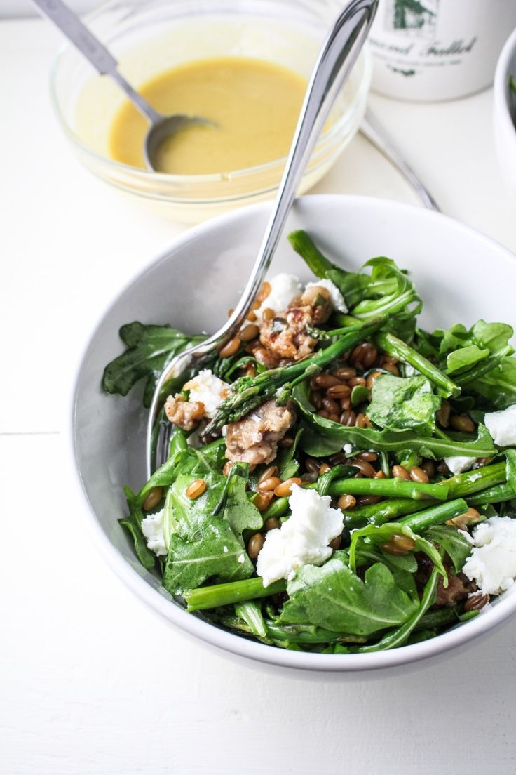 Warm Arugula Salad with Maple-Mustard Dressing