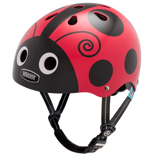 Nutcase Helmet - Little Nutty Lady Bug Generation 3 Safety, functionality and Uber chic! This gorgeous helmet would protect our little poppet's noggin on a family bike ride, scooter or any of her daring escapades. Not to mention that the name alone...'nutcase' clearly belongs in our family  #entropywishlist #pintowin