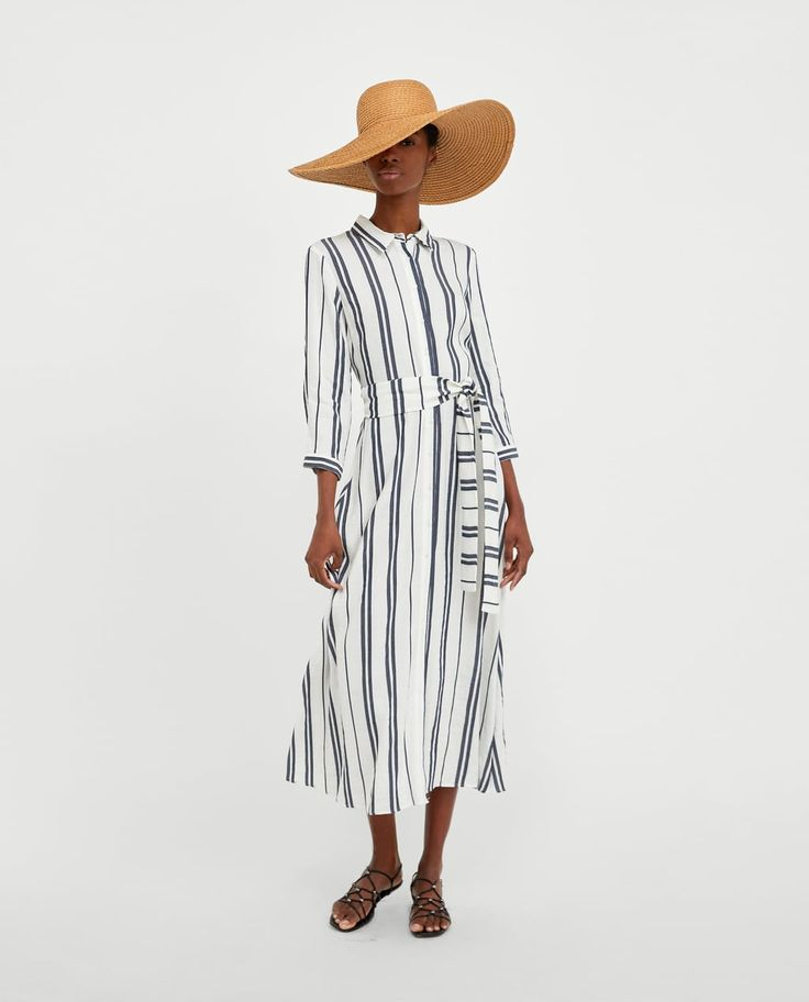 LONG STRIPED TUNIC-View all-DRESSES-WOMAN   ZARA United Kingdom