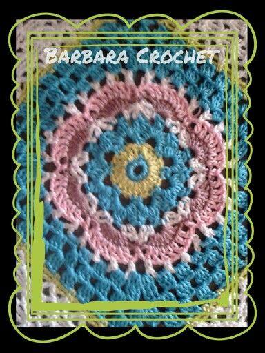 Crochet - Idea colori e schema. Per una coperta, per un poncho o per rivestire un cuscino.