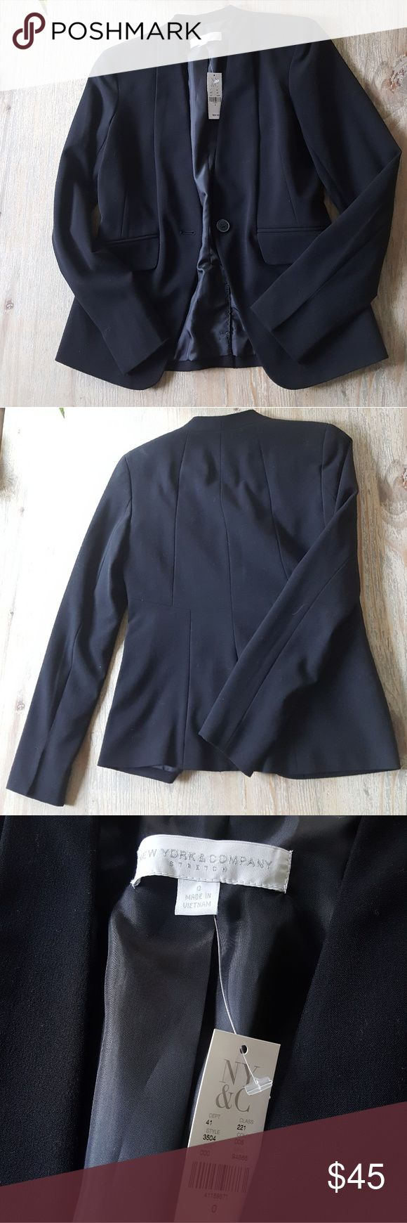 NWT NY&Co Blazer Purchased a while ago and never ended up wearing since I ended up just wearing the blazers I have with matching skirts. Very comfy and in excellent condition!  Tagged LOFT, The Limited, Ann Taylor, J Crew, Banana Republic, White House Black Market New York & Company Jackets & Coats Blazers