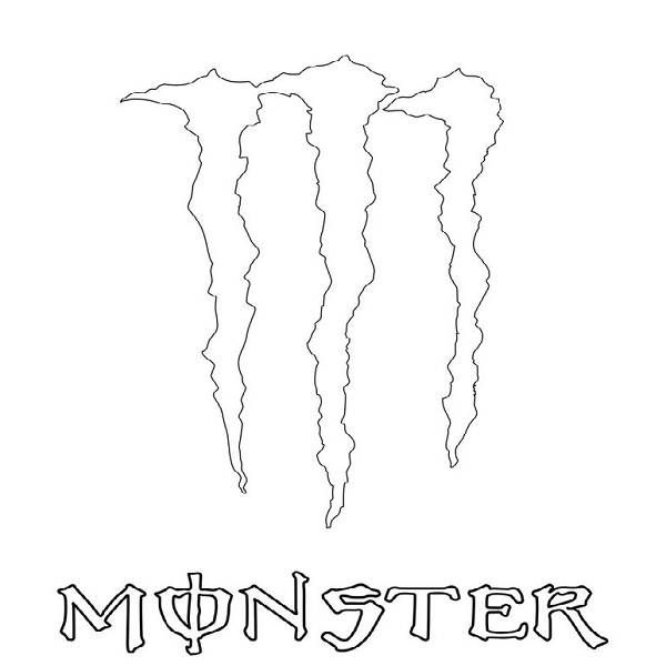 Monster Energy Logo Coloring Pages Monster Energy Drink Logo Monster Energy Monster Energy Drink